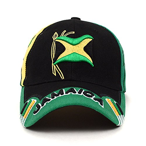 Stylish Depot Jamaica Flag Adjustable 3D Embroidered Unisex