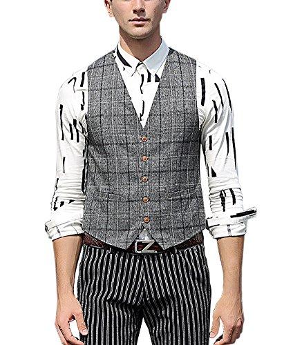 Buy mens plaid dress vests - 3