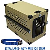 """Collapsible, Durable Aluminum Dog Crate from Grain Valley (XLarge (41""""L x 25""""W x 29""""H))"""