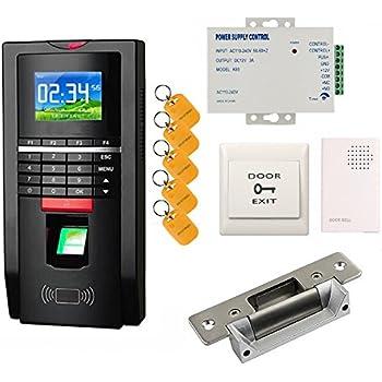 Bio Fingerprint Reader and Rfid Key Fob Door Access Control System u0026 Time Attendance Kits ANSI  sc 1 st  Amazon.com & Amazon.com : Bio Fingerprint Reader and Rfid Key Fob Door Access ...