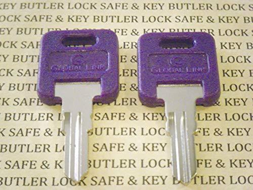 GLOBAL LINK Purple RV Keys G301 to G350 RV Motorhome Trailer Purple Keys Cut Replacement Keys for RV Travel Trailer Motor Home Toy Hauler Keys FIC (G345) (Camper Key)
