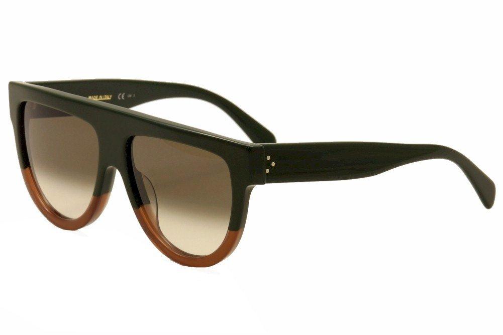 Celine Unisex-Erwachsene Sonnenbrille Shadow FU5, Mehrfarbig (Black Tortoise Havana/Brown), 58