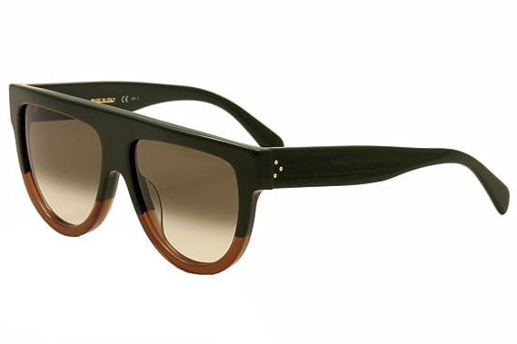 fbc5144c0564 Celine Women's 41026S 41026/S JARZ3 Green/Brown Retro Fashion Sunglasses  58mm: Amazon.ca: Clothing & Accessories