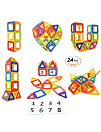 Magnetic Blocks STEM Educational Toys Magnet Building Block Tiles Set for Boys and Girls by Coodoo-24pcs BOBEBE Online Baby Store From New York to Miami and Los Angeles