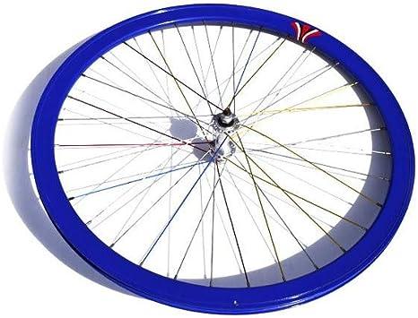 Riscko Wonduu 003l Rueda Delantera Bicicleta Personalizada Fixie Talla L Azul: Amazon.es: Deportes y aire libre