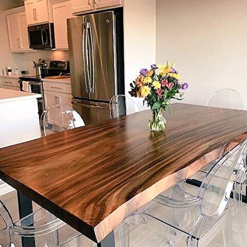 Amazon.com: Live Edge Dining Table made in a modern rustic ...