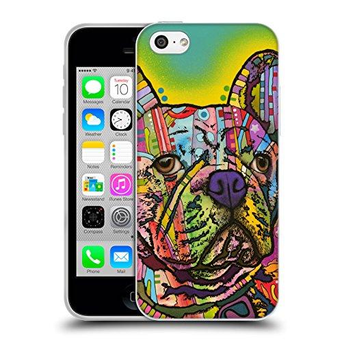 Officiel Dean Russo Bouledogue français Chiens Étui Coque en Gel molle pour Apple iPhone 5c