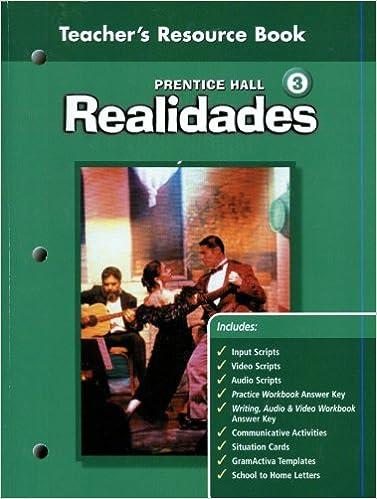 Realidades 3 Teacher S Resource Book Unknown 9780130360229