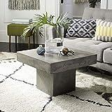 Safavieh VNN1016A Collection Tallen Dark Grey Indoor/Outdoor Modern Concrete 15.75'' Coffee Table