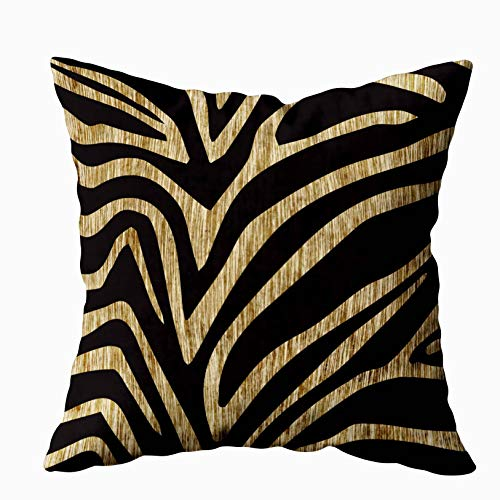 (EMMTEEY Home Decor Throw Pillowcase for Sofa Cushion Cover,Zebra Decorative Square Accent Zippered and Double Sided Printing Pillow Case Covers 20X20Inch )
