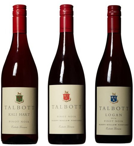 Talbott Single Vineyard Pinot Noir Red Wine Mixed Pack 3 x 750mL
