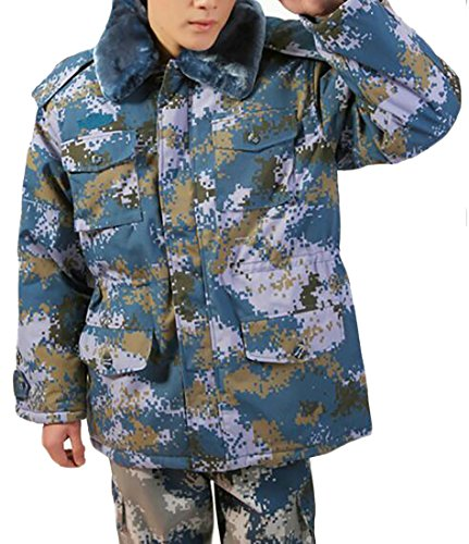 Zipper Happiness Hooded H Men's Camo Coat Outerwear Winter Entrance amp;E Camouflage Parka BqIwqO7C