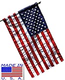 Best American Flags With Pole Sleeves - 3x5 Embroidered USA American Pole Sleeve Nylon Flag Review