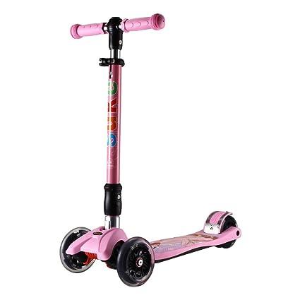 Patinetes Kick Scooter Rosado para niñas, Enciende Scooters ...