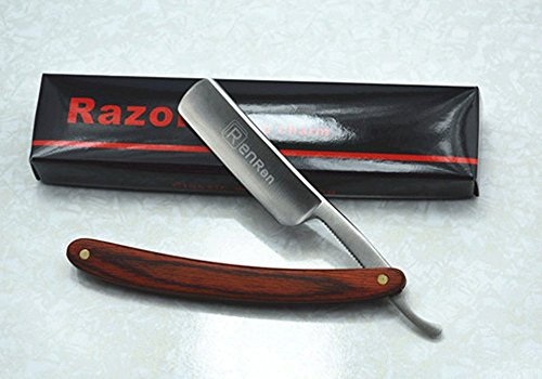 straight-edge-razor-steel-folding-shaving-wood-handle-knife-barber-beard-new