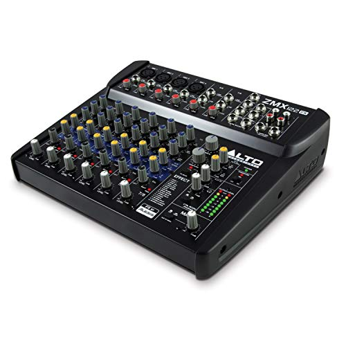 Alto Professional ZMX122FX | 8 Channel Compact Audio Mixing Desk with Built-In Effects, Four XLR Microphone Inputs and Two Stereo Inputs