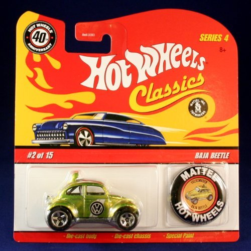 BAJA BEETLE (GREEN) 2007 Hot Wheels Classics 1:64 Scale SERIES 4 Die Cast Vehicle