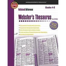 Notebook Ref:Thesaurus (Gr.4-8)