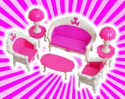 Amazon.com: Kangkang@ Luxurious Barbie Doll House Living Room ...