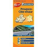 Michelin Regionalkarte Provence, Cote d'Azur 1 : 200 000: Tankstellen an Autobahnen und Strassen, Sicherheitsalerts, Stadtplan: Marseille