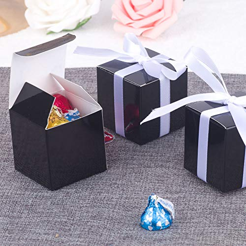 - YESON Black Candy Boxes 2 x 2 x 2 inch Small Square Paper Party Favor Boxes, Party Supplies Decorations,Pack of 50