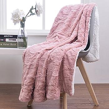 Amazon Tache 40x40 Faux Fur Dusty Rose Pink Soft Throw Blanket Extraordinary Dusty Pink Throw Blanket