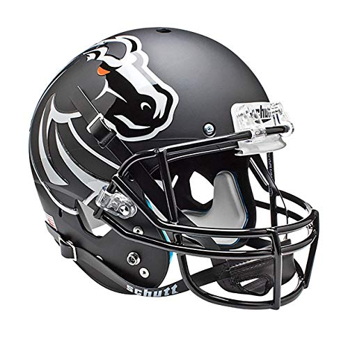 NCAA Boise State Broncos Authentic XP Football Helmet, Matte/Black ()