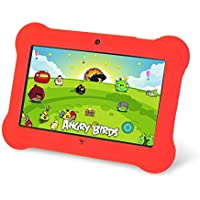Zeepad Kids TABZ7 Android 4.4 Quad Core Five Point Multi Touch Tablet PC, 7', 4GB, Kids Edition, Red