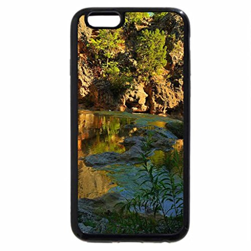 iPhone 6S Case, iPhone 6 Case (Black & White) - Pond near the rocks