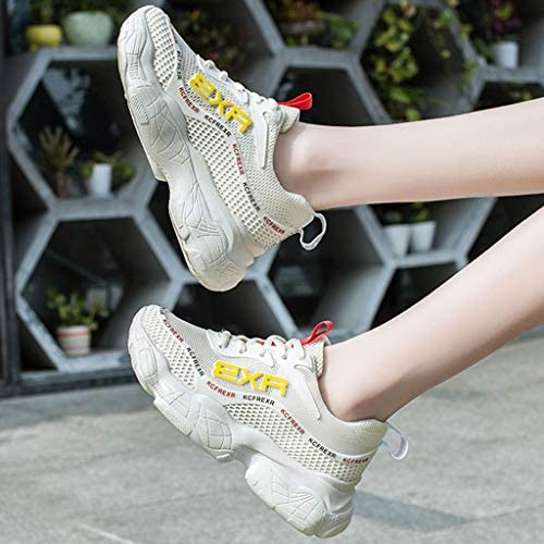 Women Leather Platform Sneakers Clearance Sale NDGDA Ladies Casual Suede White Trainers Shoes