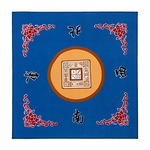 Sanvo Universal Mahjong/Paigow/Poker/Dominos/Game Table Cover,Slip Resistant Mat(Blue) 31.5