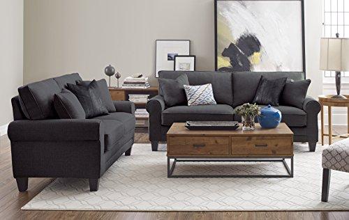 Serta Rta Copenhagen Collection 78 Sofa In Steeple Gray Cr46225pb Furniture Furniture Sets