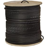 Offex OF-10X1-022NH Bulk RG58/U Coaxial Cable, Black, 20 AWG, Solid Core, Braided Shield, Spool, 1000-Feet