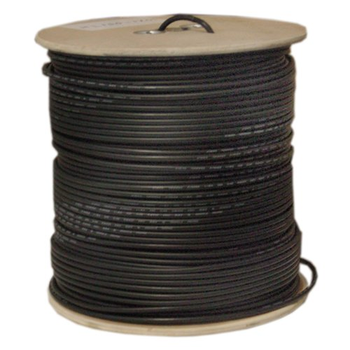 (Offex OF-10X1-022NH Bulk RG58/U Coaxial Cable, Black, 20 AWG, Solid Core, Braided Shield, Spool, 1000-Feet)