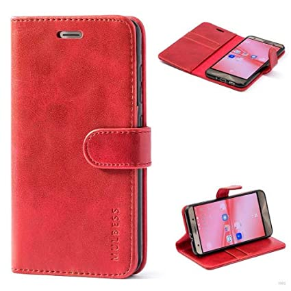 Mulbess (Vintage bookstyle) Premium Handy Schutzhülle Ledertasche im Kartenfach für ASUS ZenFone 3 ZE552KL (5,5 Zoll) Tasche
