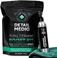 DETAIL MEDIC 15% Ceramic Coating for Cars Bundle. Ultra-Shine and Armor Quick Detailer Ceramic Car Wax Kit. 8o