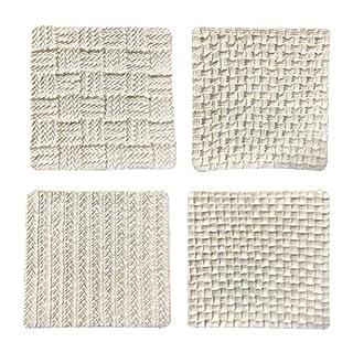 Fondant Impression Mat, Sweater Texture Design Silicone Cake Decorating Supplies for Cupcake Wedding Cake Decoration