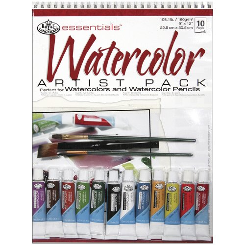 Royal & Langnickel Watercolor Artist Pack, 9-Inch by 12-Inch (Cardboard Tube Halloween Crafts)