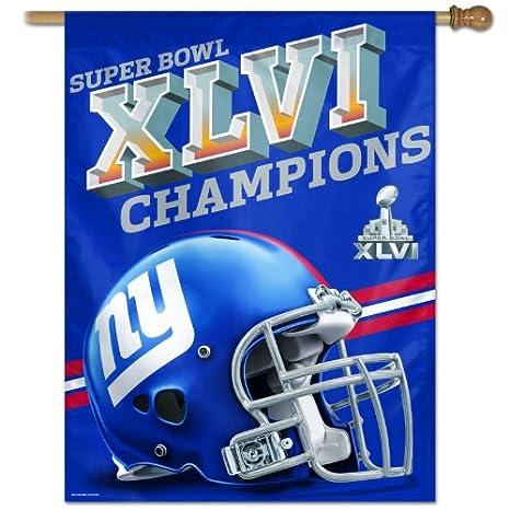 a9ff911d New York Giants Super Bowl 46 Champions Vertical Banner Flag