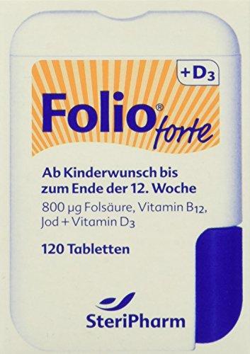 Steripharm Pharmazeutische Produkte Folio Forte Plus D3 Filmtabletten, 1er Pack (1 x 12 g)