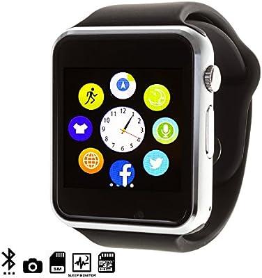 DAM - G08 Smartwatch Black. Cámara integrada. Acepta SIM y micro ...