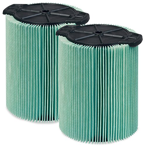 WORKSHOP Wet Dry Vacuum Filters WS23200F2 HEPA Media Filter For Shop Vacuum Cleaner (2-Pack - HEPA Media Filter For Wet Dry Vacuum Cleaner) Fits WORKSHOP 5-Gallon to 16-Gallon Shop Vacuum Cleaners