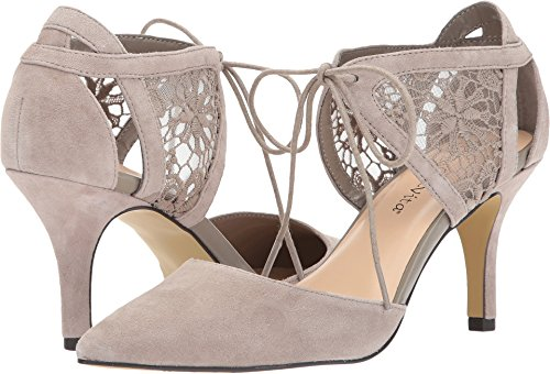 Bella Vita Women's Demi Dress Pump, Stone Kid Suede, 10 2W US - Kid Leather Pump