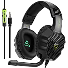 SUPSOO G811 Multi-platform Stereo Professional Gaming Headset Over Ear Headphones with Microphone Volume-Control for PC/PS4/Phone/Mac/Laptop/Tablet