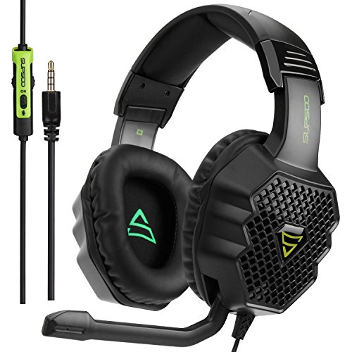 SUPSOO G811 Multi-Platform Stereo Professional Gaming Headset Over Ear Headphones with Microphone Volume-Control for PC/PS4/Phone/Mac/Laptop/Tablet (A Rich Man Needs A Poor Man Have)