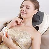 SKG 6-Node Deep Kneading Shiatsu Neck Pillow Massager with Infrared Heat - Versatile Shoulder Back Massage Cushion with Rolling Balls - Head, Waist, Arm, Feet and Leg Massager