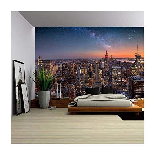 Milky Way Over Manhattan New York City