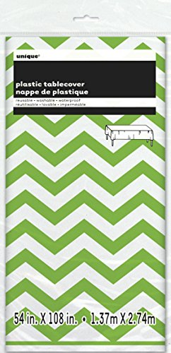 chevron-plastic-tablecloth-108-x-54-lime-green