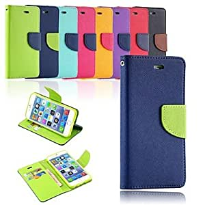 JJE Egamble Closure Protective PU Leather with Plastic Case for iphone 6 Plus (Assorted Colors) , Dark Blue