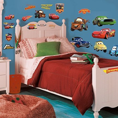 York-Wallcoverings-RMK1520SCS-RoomMates-Cars-Piston-Cup-Champs-Peel-Stick-Wa